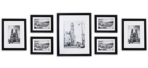 Golden State Art Wall Frames Collection Black Wood Frame Set for PicturesPhotos 7 Frames * Check out this great product.
