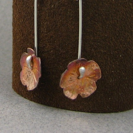 Autum flower earrings by KAThousedesign on Etsy, $29.00