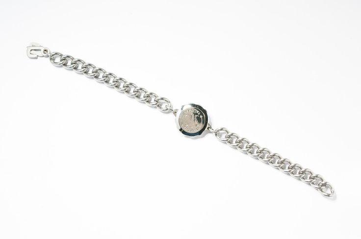 Men's stainless steel SOS Talisman bracelet