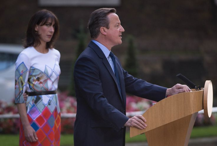 As Cameron's voice cracked during his emotional speech, Samantha looked tearful from the sidelines
