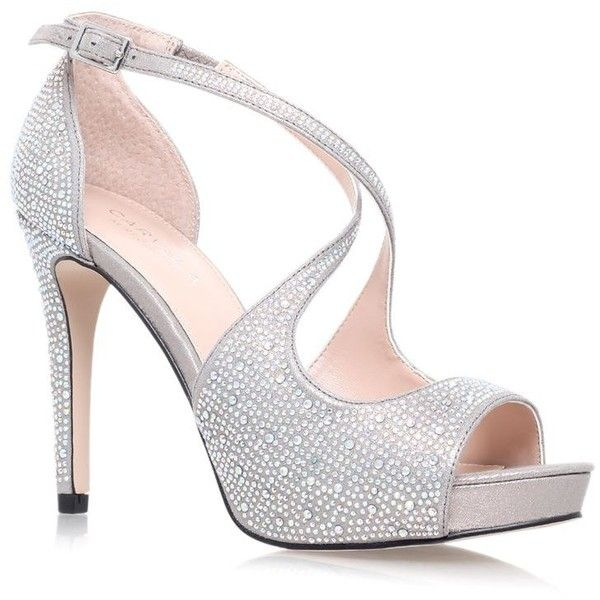 Carvela Kurt Geiger Gift Crossover Sandal ($185) ❤ liked on Polyvore featuring shoes, sandals, open toe sandals, sparkly sandals, open toe shoes, carvela kurt geiger and embellished sandals