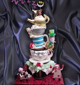 Mad Hatters Tea Party Cake by Chocolate Earth, via Flickr