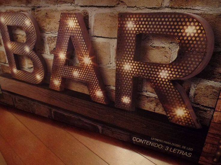 Large Led Marquee Bar Sign 15 High Black Battery Operated Individual B A R New And