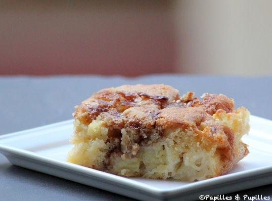 Brownie pommes caramel et noix de Macadamia