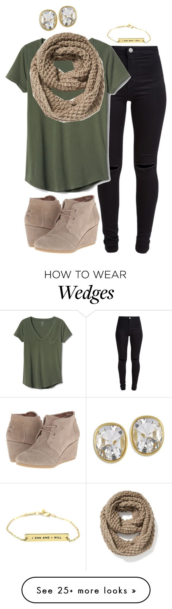 """Untitled #769"" by lsteckbauer on Polyvore featuring New Look, Gap, Old Navy, TOMS and Kenneth Jay Lane"