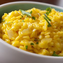 #Risotto #Milanese - simple dish but super delicious saffron and parmiggiano risotto