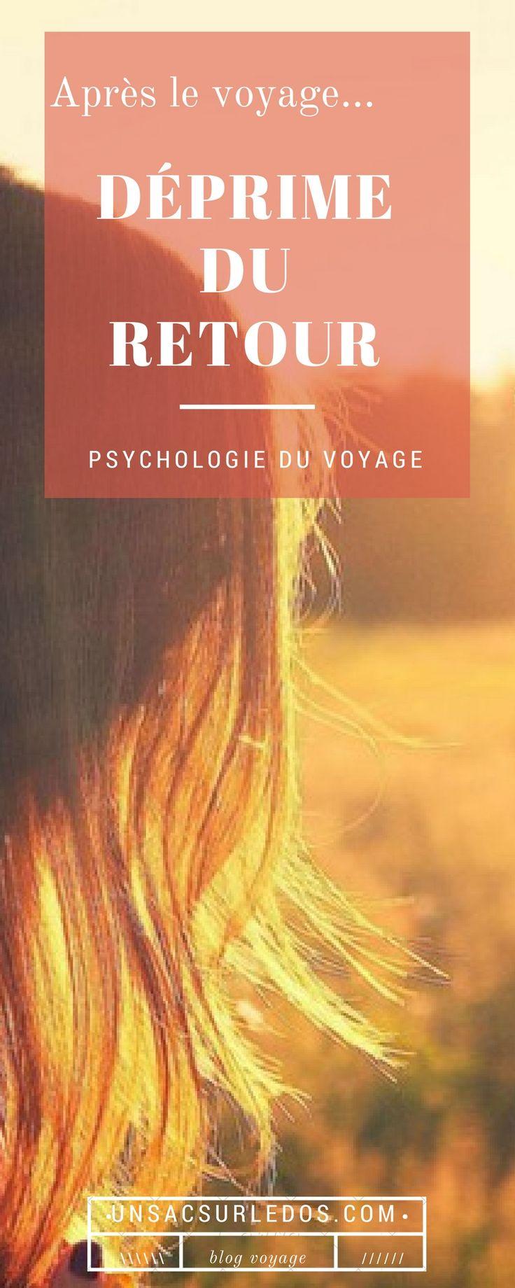 Déprime du retour de voyage : un sujet sérieux dont on ne parle pas assez, et qui touche pourtant de nombreux voyageurs ! Difficulté à atterrir, à accepter que les vacances sont finies, que la liberté de la vie nomade est à troquer contre la routine de la vie sédentaire… Pourquoi souffrons-nous de cette déprime du retour ? Point de vue d'une psychologue. -- psychologie du voyage, coaching, développement personnel, coach de vie, life coach, tristesse, blues, dépression