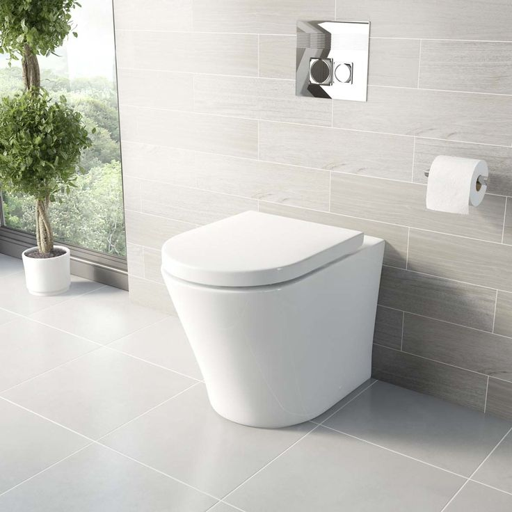 Mode Arte back to wall toilet with luxury soft close toilet seat | VictoriaPlum.com £103