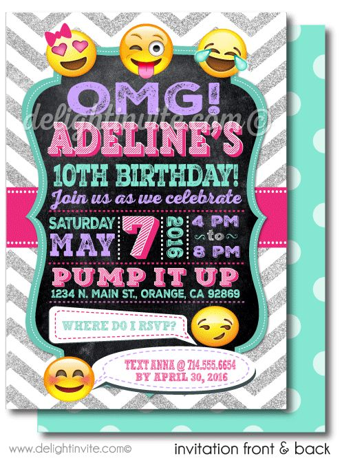 Best 25 Emoji invitations ideas – Tattoo Party Invitations