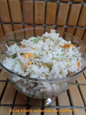 Les plats cuisinés de Esther B: Salade de chou crémeuse