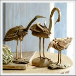 Seaside Inspired | driftwood sculptures and beach style sculptures from seasideinspired.com