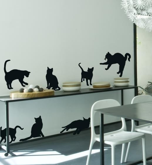 sticker planche de chats