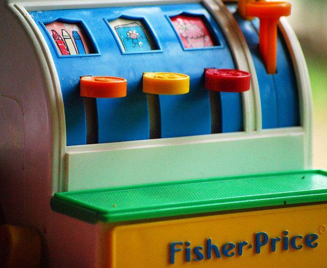 Vintage Fisher Price cash register toy | Flickr - Photo Sharing!