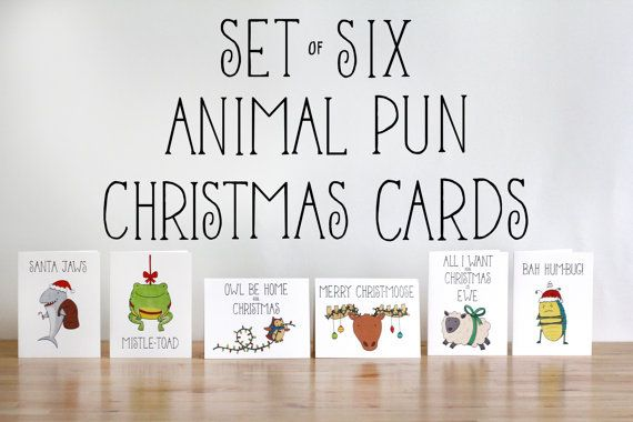 Animal Pun Christmas Cards | Community Post: 19 Funny & Festive Etsy Christmas Cards