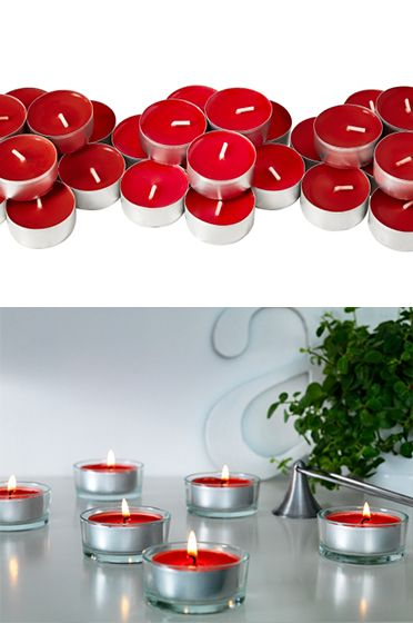 ikea fan favorite for valentine 39 s day sinnlig red tea lights set the mood with a pleasant. Black Bedroom Furniture Sets. Home Design Ideas