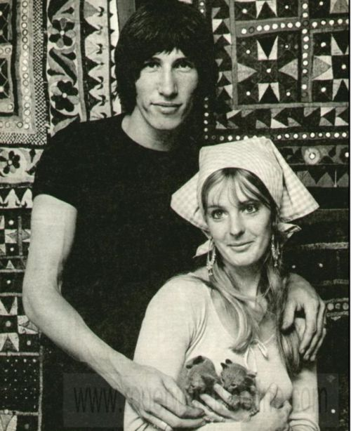 Hello, friend. — Roger Waters with his first wife Judith Trim and...