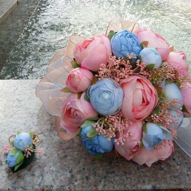 WEBSTA @ tuanahediyelik - Ama mavi ile narçiçeği çok güzel olmuyor mu?