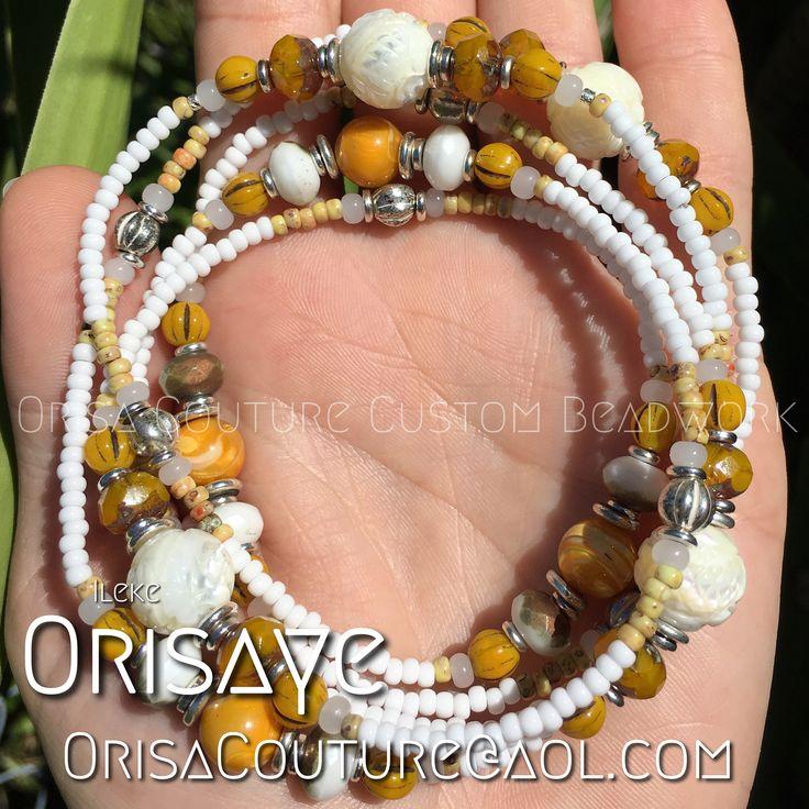 Ileke Orisaye For inquires, please send an email to OrisaCouture@aol.com #ileke #orisaye #orisa #orisha #lukumi #santeria #yoruba #diaspora #orisacouture
