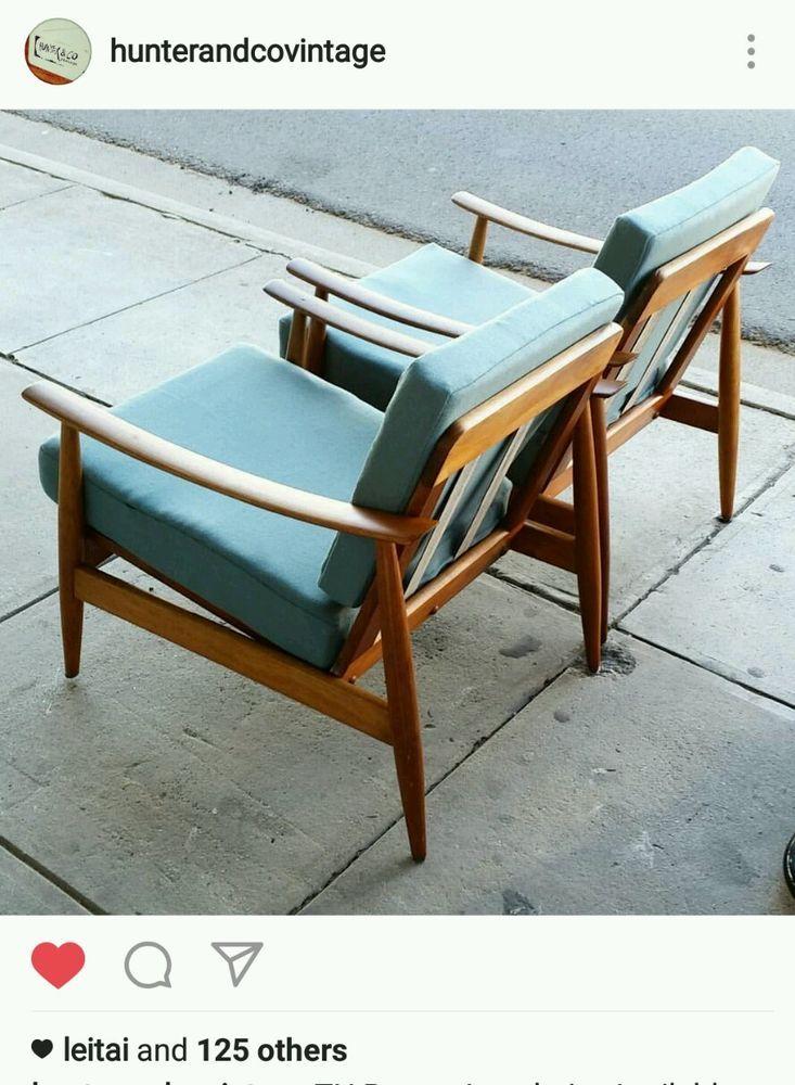 Vintage TH Brown Armchairs Fler Parker Danish Deluxe Retro mid century th  | eBay $1299 per chair