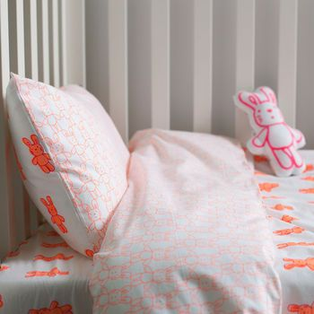 Bunny Rabbit Cot Bed Duvet Set