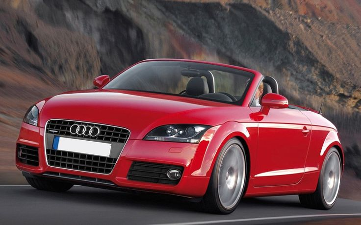 Red Audi TT ~ I want a small convertible coupe for a second car. Just looking at this car makes me happy. 🚗
