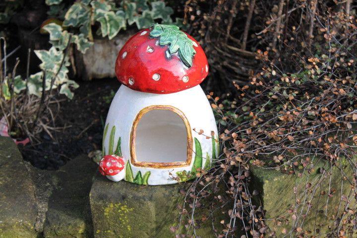 Pilz Hamsterhaus Garten Hamster Bad,getöpfert von kunst-werk auf DaWanda.com