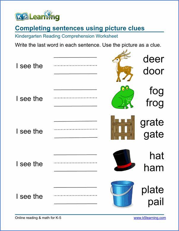 Preschool Kindergarten Worksheets Printable Organized By Subje Kindergarten Worksheets Printable Kindergarten Learning Reading Comprehension Kindergarten Preschool learning worksheets uk