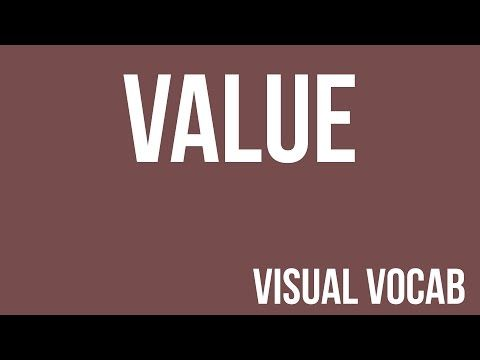 Value defined - From Goodbye-Art Academy - YouTube