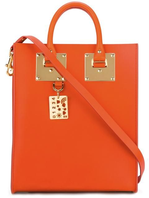 SOPHIE HULME rectangular double handles tote. #sophiehulme #bags #leather #hand bags #tote #