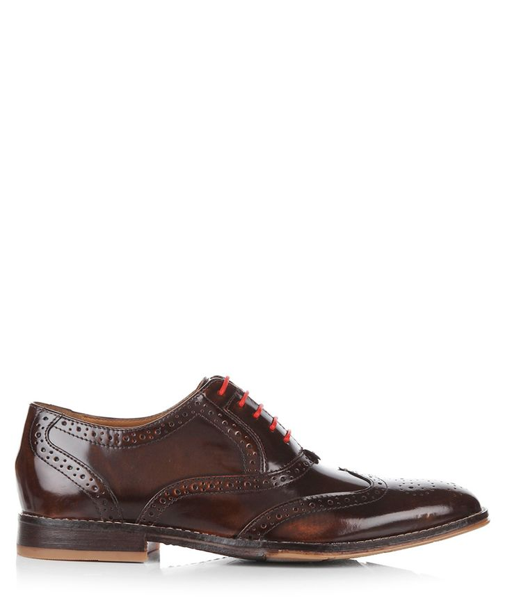 Style Brogue tan leather shoes Sale - Hush Puppies
