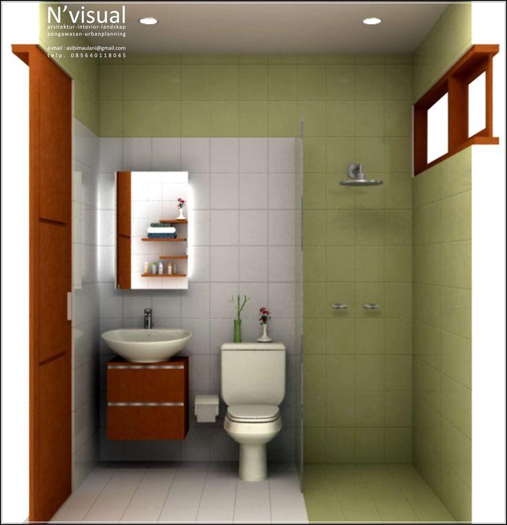 42 Desain Kamar Mandi Sempit Minimalis Ukuran Kecil Yang Cantik! | Desainrumahnya.com