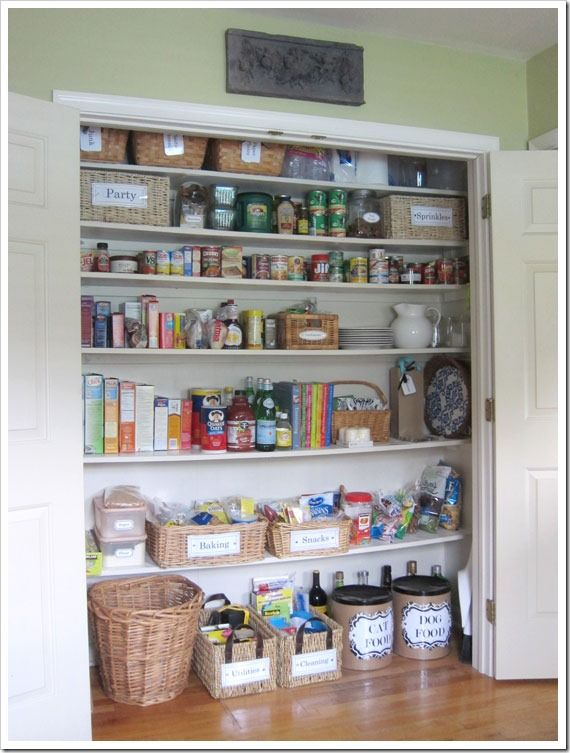 How i transformed a coat closet into a pantry pantry for Kitchen closet ideas