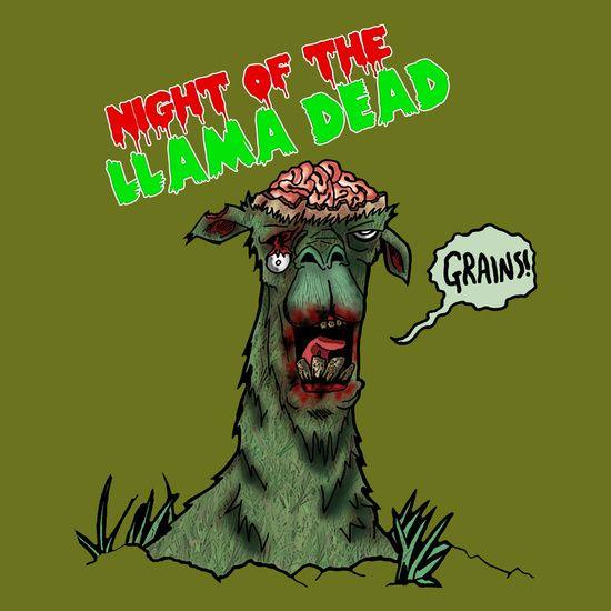 """Night of the Llama Dead!"" by Metalot"