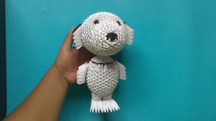 Origami 3D Snoopy