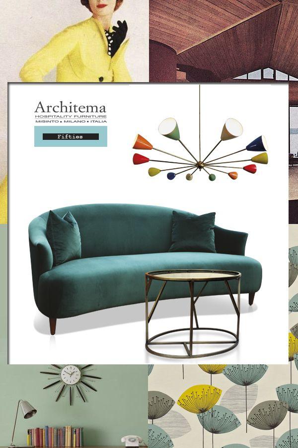 ARCHITEMA .- MR BEAN SPOFA IN GREEN VELVET & CUSTOMIZED METAL TABLE