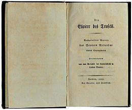 E.T.A.Hoffmann (1815).Die Elixiere des Teufels