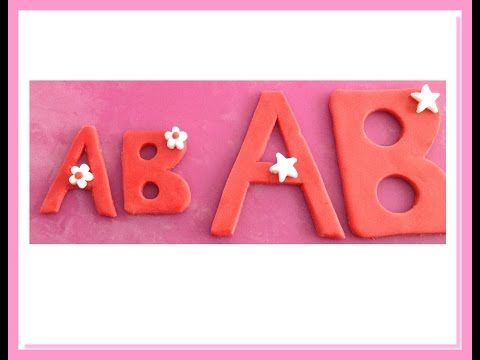 Tutorial perfette lettere alfabeto in pdz senza stampo - How to make per...