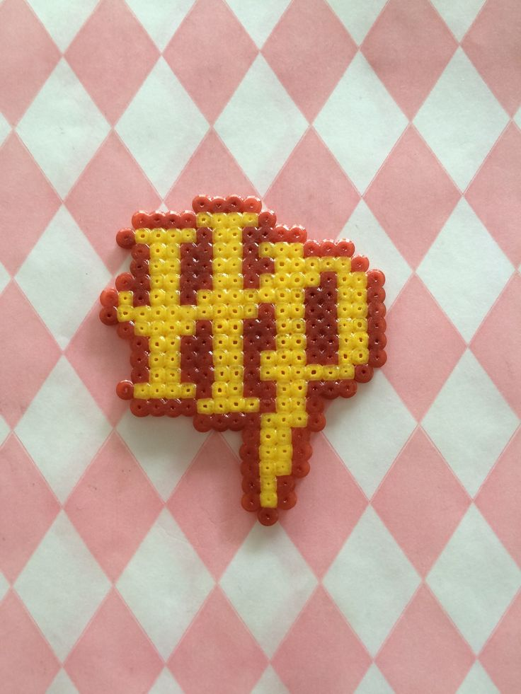 Magnet Initiales d'Harry Potter en perles à repasser