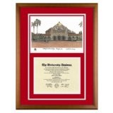 Stanford University Palo Alto California Diploma Frame with Art PrintBy Old School Diploma Frame Co.