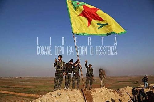 Dopo oltre 134 giorni di resistenza le milizie curde di Kobane hanno finalmente liberato la città dalle bande dei tagliagola dell'Isis.