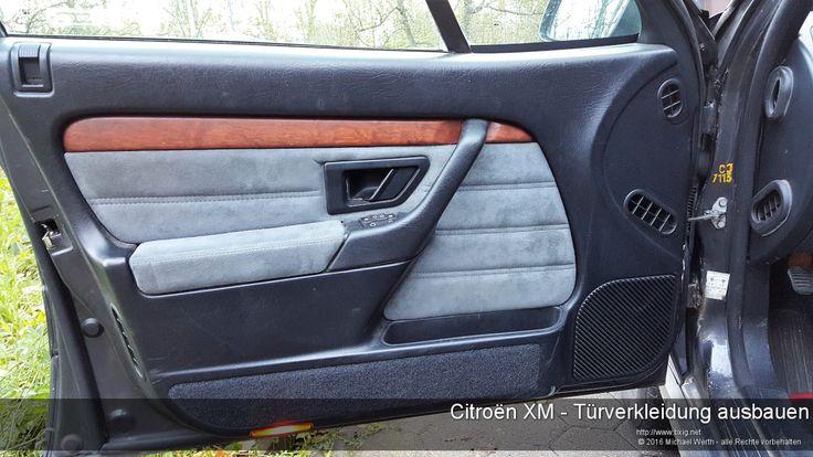 Citroën XM Türverkleidung ausbauen - https://www.bxig.net/citroen-xm-tuerverkleidung-ausbauen/  Die Türverkleidung an einem Citroën XM ist eigentlich recht schnell ausgebaut.    Fummelig ist eigentlich nur der Knopf der Verriegelung und die Tatsache, dass die Plastik-Popp-Nieten, die die Verkleidung an der Tür halten gerne ausreißen. Deshalb sollte man für das Aushebeln einen Kuhfuß oder eine spezielle Zange zum Lösen von Türverkleidungen und Zierleisten verwenden.  von Michael Werth
