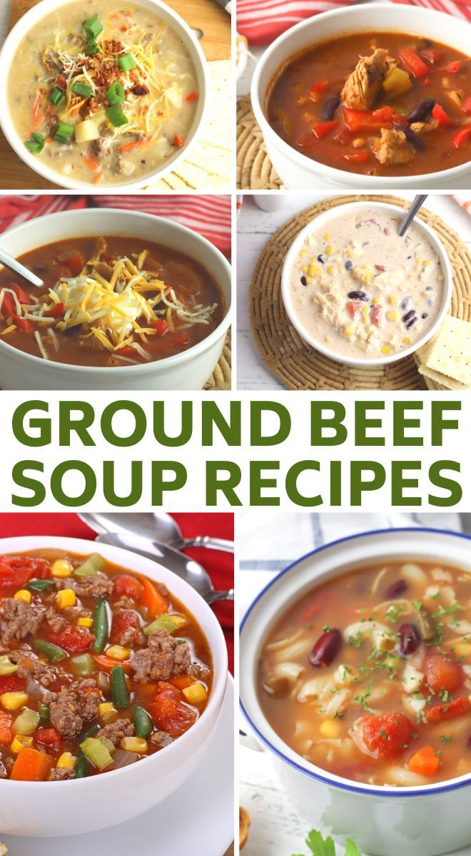 The Best Hamburger Soup Recipes In 2020 Soup With Ground Beef Best Hamburger Soup Recipe Soup Recipes