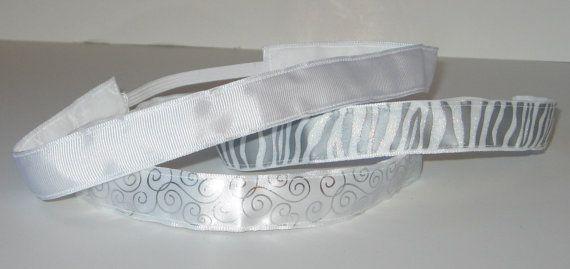 No Slip Headband, Silver Headband, White Headband, Glitter Headband, Yoga Headband, Marathon Runner, Velvet Headband, Girl Gift, Fashion