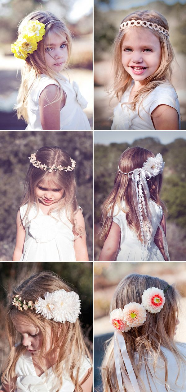 pretty flower girl accessories