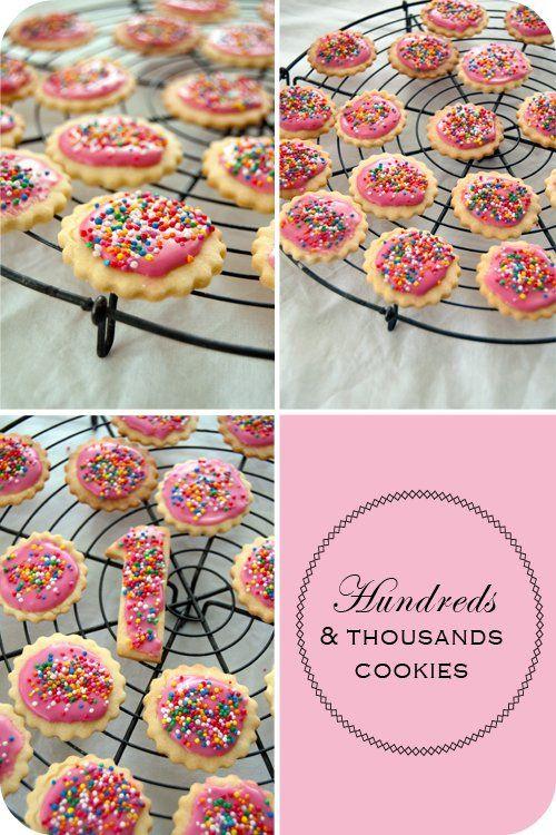 Hundreds and thousand cookies set
