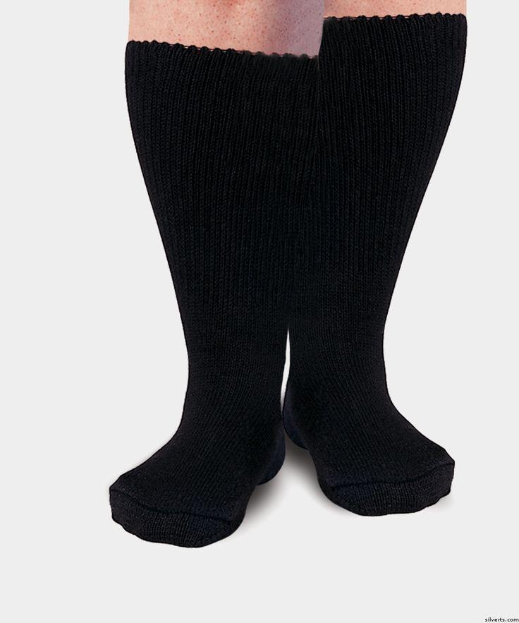 Womens & Mens Diabetic Socks - Swollen Feet Socks & Swollen Ankle Socks - Diabetes Socks - Crew Socks