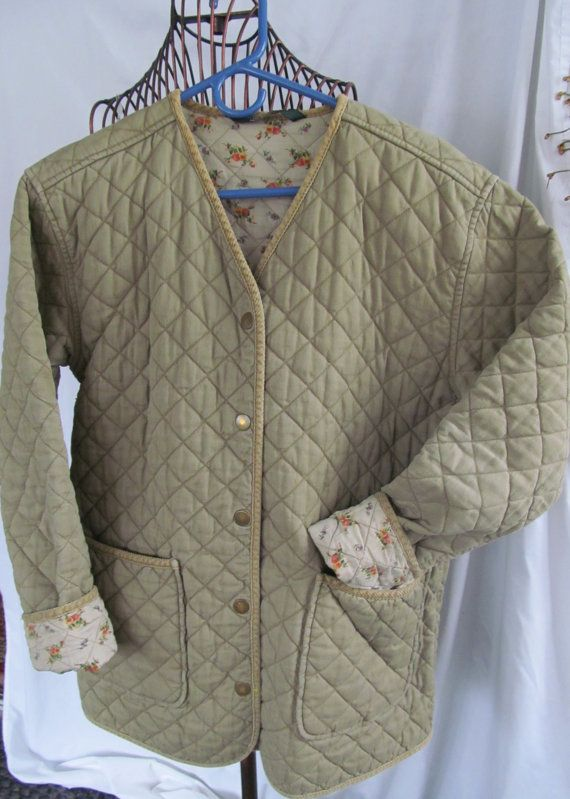 Laura Ashley Quilted Jacket 70s Style Quilt Coat
