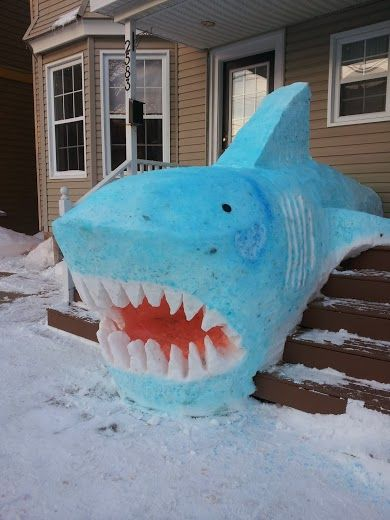 snow sculpture is awsome