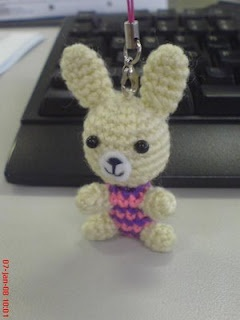 Little Bunny for Cellular Accessories pattern - other little animal key chain patterns on site