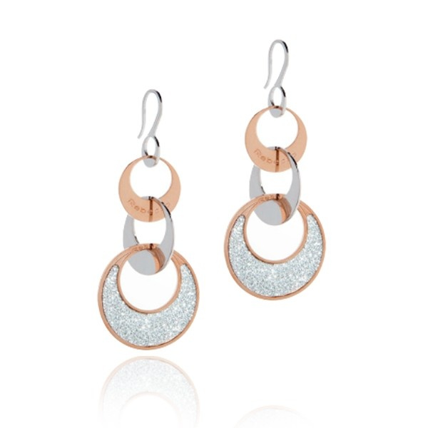 """Rebecca Rhodhium Plated Bronze Maxi """"Griffe"""" Earrings with Glam Film"""